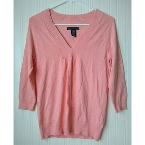 Apostrophe Peach V-Neck Sweater